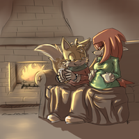 Cozy family :holiday comm: by Blue-Chica