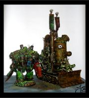 Nurgle Plague Tower and Plague Knight by JDHerring