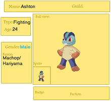 PMDfusion: Ashton the Dojo Trainer by OmegaCrafter17