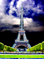 Eiffel Tower at night by IanM