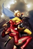 Iron Man vs Sentry by Aspersio