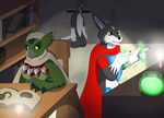 Comission: Library by PhoenixWulf