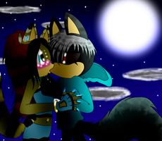 .:A Kiss At The Moon of the Night:. by FrostFire-X