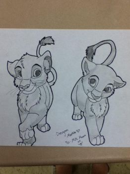 Simba and Nala by LoveWillShine