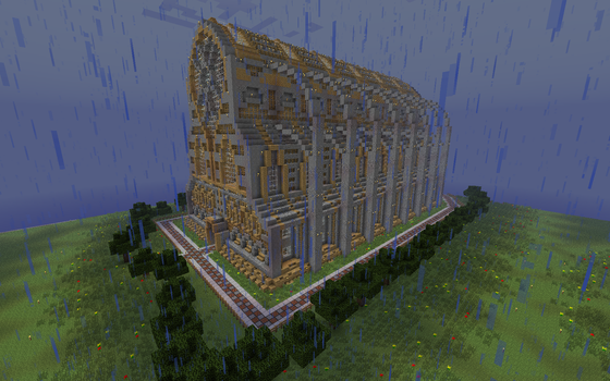 Massive Minecraft Cathedral by Tugtugbug