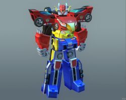 ENGINE-OH MEGAZORD  [SSB:Ranger Cross] by Goreface13