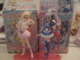 My Precure Figurines :D by Chancetodraw
