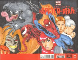 spiderman sketchcover with copics by Sajad126