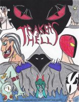 TrackersofHell Poster by risque99