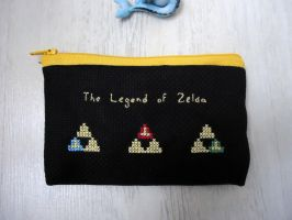 Cross stitch The Legend of Zelda purse by Miloceane