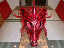 Dragon helm complete front by Red-Dragon-Lord