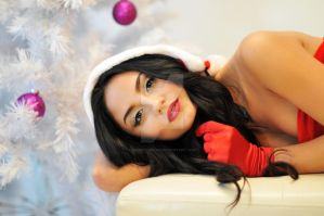 Model in Santa Suit by houstonryan