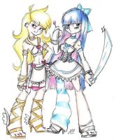 Panty and Stocking by MikuPapercraft