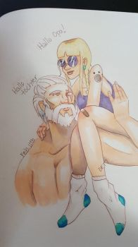 Opa + Tochter by dae-ris