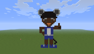 Minecraft statue of me by twixthepichu