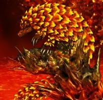 Magma Pangolin by hwango