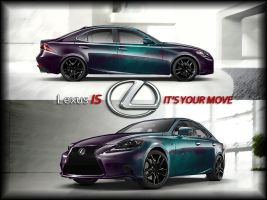 (Chameleon Paint) Lexus IS 2014 by ocue8ball