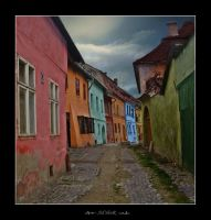 in Sighisoara's street by ad-shor