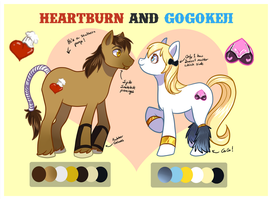 HeartBurn and GoGoKeji Reference Sheet by SimplyKeji