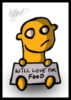 Will Love For Food -- HL by halfliquid