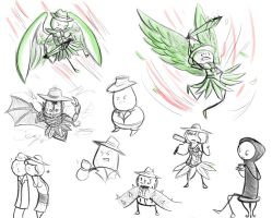 assorted PS doodles by disgustiphage