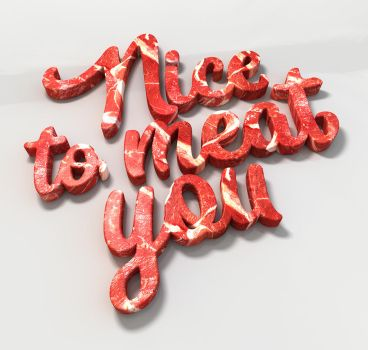 Letter Meat _ Nice to meet you by Flatau