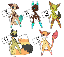 Furry adopts Name your prize batch 3 by Pinkey-poptard