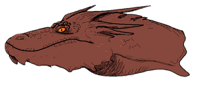 Smaug head by wolffuchs