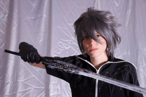 Noctis Lucis Caelum serious face by AngelEmoGirl