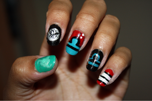 Homestuck  Nails: Terezi Pyrope by Khainsaw