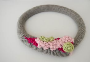 Crocheted Snap Necklace- Garten by CharityK