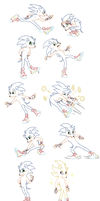 Sonic Sprite Sheet by C-Puff