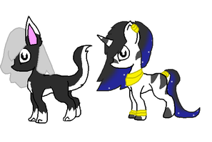 Animal ponies adopts three by Kyah-Pony-Adoptables