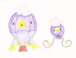 Drifloon and Drifblim by KitsuneShinra
