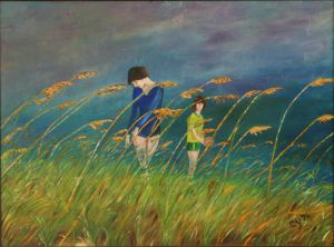 Daughters in a Wheat Field by CarolynYM