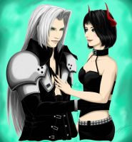 Comm: Sephiroth and Rem ~ Love In Our Eyes by BahamutDeusModus