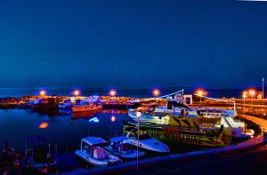 The Paralimni Fishing Shelter at night... by TheBaldingOne