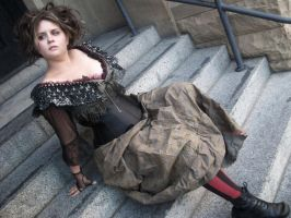 Mrs. Lovett On Stairs by meanlilkitty