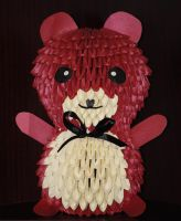 3d origami Teddy by HoneyBee249