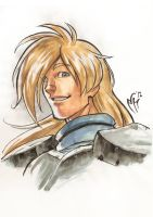 Slayers Portraits - Gourry Gabriev by MarcelPerez