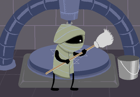 RG: Equip the mop as a weapon. by Huch-a9346