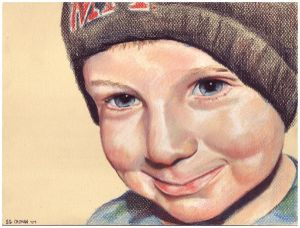 Colored pencil portrait entitled Brian