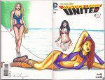 Justice League Swimsuit sketch cover edition by kevinsunfiremunroe