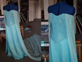 Elsa Cosplay WIP 1 by Kennadee