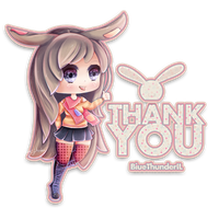 Thank You for 300+ Watchers! Chibi Drawing by BlueThunderIL