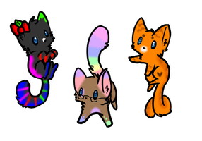 Cat Adoptables! (OPEN) by Physco-Lpswolfy