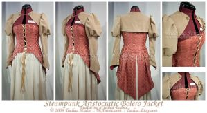 Steampunk Aristocratic Bolero by taeliac