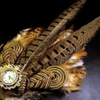 Clockwork Feathered Fascinator by Om-Society