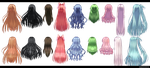 Long Hair pack 2 by kaahgomedl