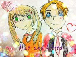 Alice and Alfred (( Fem EnglandxAmerica)) by AskSierraHope
